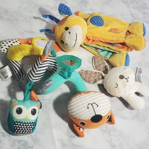 Infant toy lot Baby Soft Crinkle Rattles